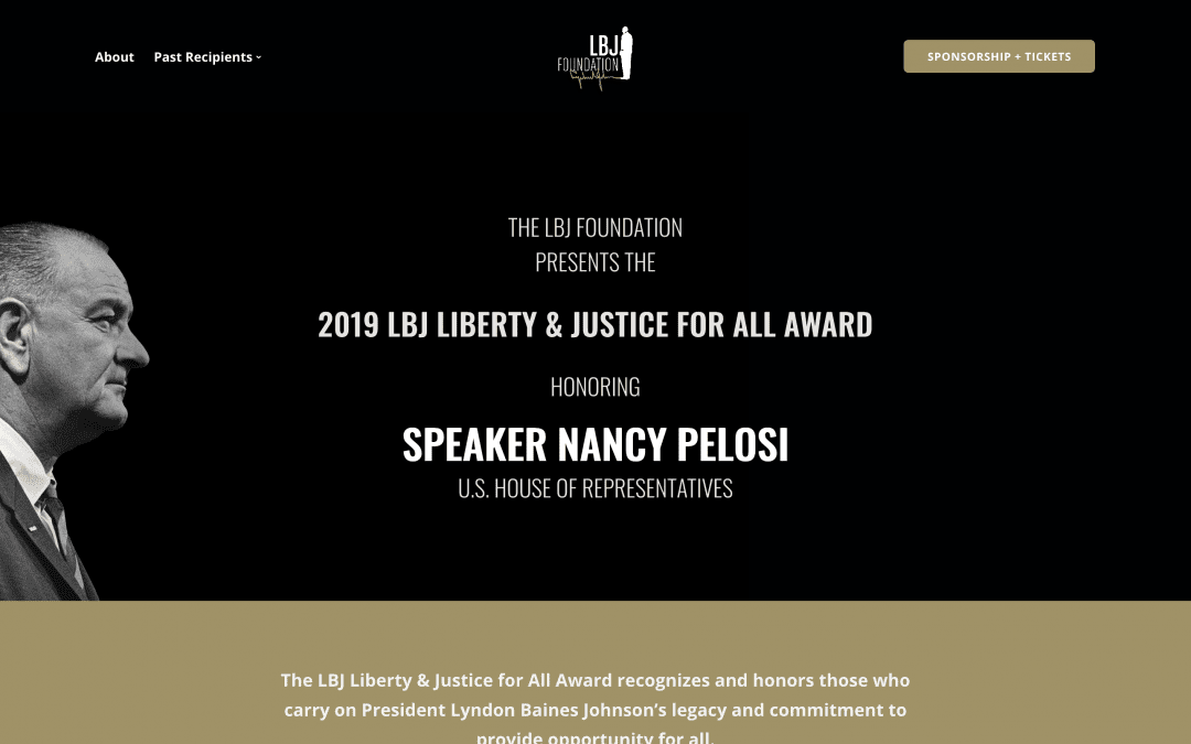 Presenting a Legacy – LBJ Liberty and Justice For All Award