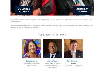 LBJ Foundation's Summit on Race in America website